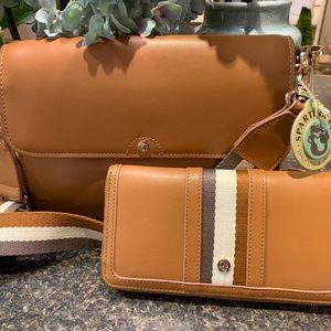 Spartina Leather Handbag and Wallet Set
